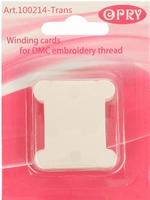 Opry Wikkelkaarten plastic transparant 20 stuks