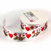 Lint met I Love You Beren 39mm  1 meter