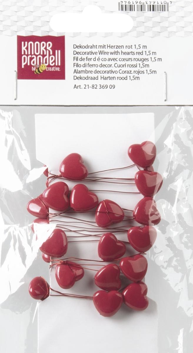 Decoratieve draad met harten 1,5 m
