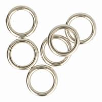 Antex Gordijnring, hol, nikkel zilver 10 stuks