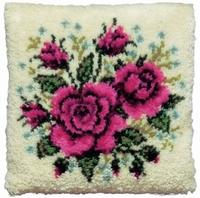 knoopkussen rode rozen 40 x 40 cm