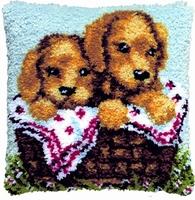 knoopkussen puppy's 40 x 40 cm