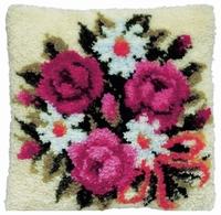 knoopkussen boeket bloemen 40 x 40 cm