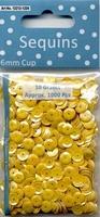Pailletten AB Geel 10 gram