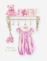 Borduurpakket Baby girl birth