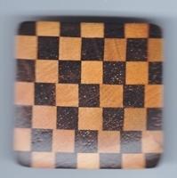 knoop hout vierkand ruit