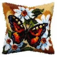Knoopkussen vlinder op bloem 40 x 40 cm