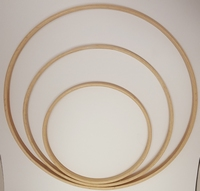 Houten Ring 45cm 1cm breed