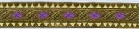 Sinterklaasband - Goud - Paars 1 meter