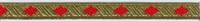 Sinterklaasband - Goud - Rood 1 meter