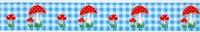 Padenstoelen Lint Blauw 1 meter