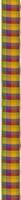 geruit lint blauw rood oranje met links en rechts metaaldraa 1 meter