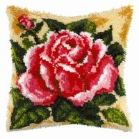 Knoopkussenpakket Roos 40 x 40 cm