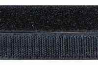 Klittenband 20mm breed, zwart 0,50 Meter