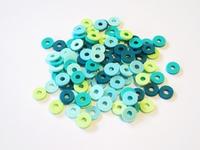 Katsuki Mix, 6mm, Turquoise ocean 100 stuks