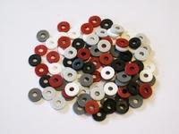 Katsuki Mix, 6mm, Black, Grey, Red sunset 100 stuks