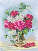 Boeket rozen op vaas