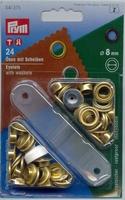 Ringen met schijven 8 mm 24 stuks