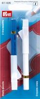 Krijtpotloden met borsteltje, wit/blauw, 11 cm 2 stuks