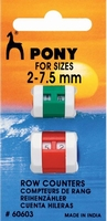 Toerenteller, kunststof / klein, groot 2 stuks