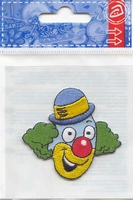 Applicatie Clown, 6 x 5,5 cm