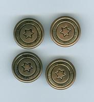 Jeans inslag knoop savari 17mm brons 4 stuks