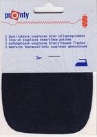 Kniestukken 10 x 10 cm Donker Blauw 1 paar
